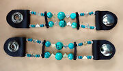 Womenand039s Turquoise And Heart Bead Motorcycle Vest Extenders