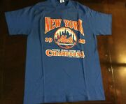 Vintage Authentic New York 1988 Mets National League Eastern Champions Tee Large