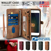 2-in-1 Leather Removable Wallet Magnetic Flip Card Case Cover For Iphone 8 Plus