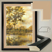 32wx44h Wolf Bay By Stiles - Warm Landscape - Double Matte Glass And Frame