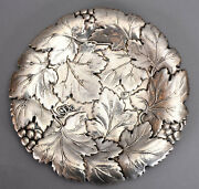 1933 Reed And Barton Sterling Silver 10-7/8 Dish 920 Grape Leaves Motif 13.8 Ozt