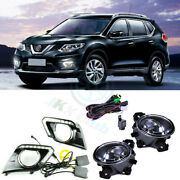 For Nissan Rogue 2014-2016 A Set Drl Led Daytime Running Lamps Fog Light Cable O