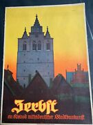 Circa 1961 Vintage Travel Poster Germany - Linen Backed