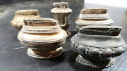 G Ronson Table Lighter Lot Crown Queen Anne