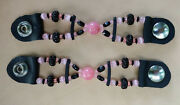 Womenand039s Pink Bead Motorcycle Vest Extenders