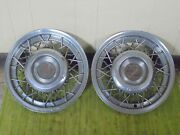 53 54 55 Cadillac Accessory Wire Hub Caps 15 Set 2 Wheel Covers 1953 1954 1955