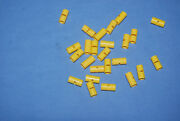 X Lego Round Connector Pin Joiner 62462 Lot 25 Yellow Technic 76052 7066 9396