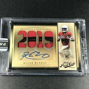 Kyler Murray 2019 Panini Prime Cuts Pc-1 Patch Auto Rookie Rc 1/1 1of1 Cardinals