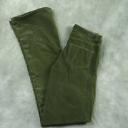 Nwot Paige High Rise Lou Lou Olive Green Velvet Flare Jeans Wom Size 26 New Anb