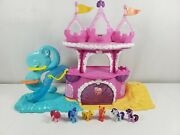 My Little Pony Mermaid Playset + 6 Ponies Cleaned Tested Works