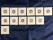 Lot Of 12 Silver Us Roosevelt Dimes 1946 Circulated