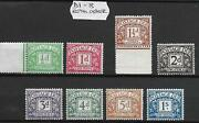 Sg D1 - D110 1 X Full Run Of Postage Dues Excluding And039aand039 Numbers Unmounted Mint