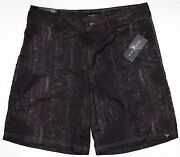 New Marc Ecko Cut And Sew Black Doyle Hybrid Men's Casual/ Board Shorts Size 32