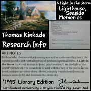 Thomas Kinkade Library Edition A Light In The Storm Painting In Frame