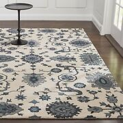 Crate And Barrel Juno White Parsian Style Handmade 100 Woolen Area Rugs And Carpet
