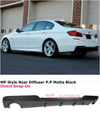 For 11-16 Bmw 5 Series F10 535i W/ M Sport | Mp Style Shark Fins Rear Diffuser