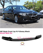 For 11-16 Bmw F10 5 Series W/ M Sport   Mp Style Glossy Black Front Lip Splitter