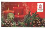 Australia 2013 Merry Christmas Festive Candles 1 Unc Coin And Stamp Pnc Cover