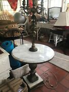 Mcm Marble Table/ Lamp Hollywood Regency Glam Wow Unique