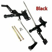 Black Forward Control Linkage With Foot Pegs For Harley 1991-2003 Xlh 883 1200