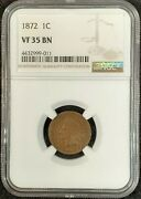 1872 Indian Head Cent Ngc Vf35 Bn 4432999-011 Exquisite Coin Rare