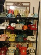 43 Vintage Phones Different Colors And Styles.