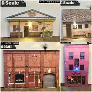 G Scale - 4 Building Flats Set Combo - As Pictured Led 1/24 1/32