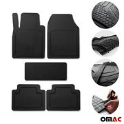 Car Floor Mats For Bmw All Weather Semi Custom Black Trimmable 5 Pcs.