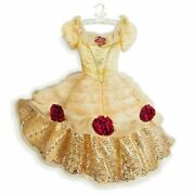 Disney Beauty And Beast Costume Belle Dress Size 8 Brand New W/tag-limited Ed