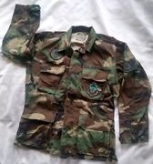 Air Force Shirt Jacket Size Small Tactical Airlift Civil Engineering Patches