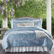 Sferra Lumia 3416 Full/queen Duvet Cover Set With Two 2 Shams Bluebell