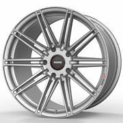 19 Momo Rf-10s Silver 19x9 19x10 Concave Wheels Rims Fits Ford Mustang Gt