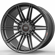 19 Momo Rf-10s Grey 19x8.5 19x10 Concave Wheels Rims Fits Ford Mustang Gt