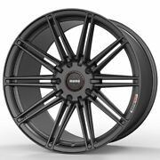 19 Momo Rf-10s Gray 19x8.5 19x10 Concave Wheels Rims Fits Ford Mustang Gt