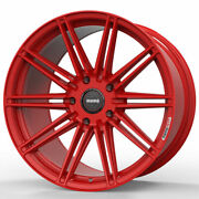 20 Momo Rf-10s Red 20x9 Forged Concave Wheels Rims Fits Tesla Model S