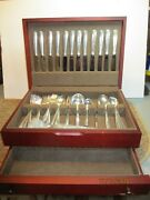 Rambler Rose By Towle Sterling Silver Flatware Set Service 62 Pieces/case