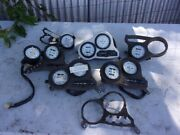 Box Of Assorted 1970and039s- 1980and039s Used Vintage Suzuki Gauges And Parts 27-a05-12