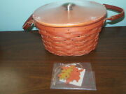 Longaberger Beautiful Spice Fall Harvest Basket Set And Tie-on