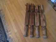 4 Antique Chunky Table Legs.