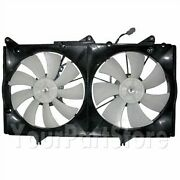02-06 Camry Solara Radiator And Condensor Cooling Dual Fan Motor And Shroud V6