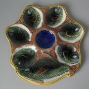 Adams And Bromley Majolica Fishes Oyster Plate