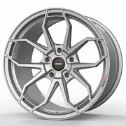 19 Momo Rf-5c Silver 19x8.5 19x10 Concave Wheels Rims Fits Ford Mustang Gt