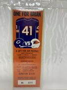 Brian Piccolo 1970 Chicago Bears Vs St Louis Cardinals Charity Game Ticket-rare