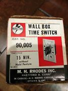 M H Rhodes Wall Box Timer Switch New 15 Minute Mark-time Heater Fan Light Nos