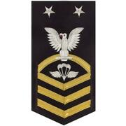 Navy E9 Male Rating Badge Aircrew Survival Equipmentman - Vanchief On Blue