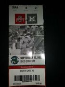 Ohio State Football Ticket Stub Sept. 21, 2019 Vs Miami Oh 11 Tds And 76 Points