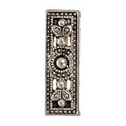 Antique Silver Rectangular Flower Spacer Bead - For Elegant Diy Jewelry And Crafts