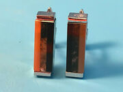 Old Vtg Collectible Swank Mcm Silver Tone Tricolor Rectangle Design Cuff Links