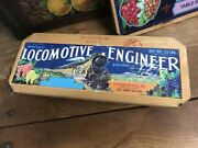 Vintage Locomotive Engineer Table Grapes Kitchen Wall Wood Crate Advertising