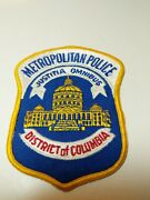 Metropolitan Police District Of Columbia Vintage Patch 4 X 5 Never Sewn Glued